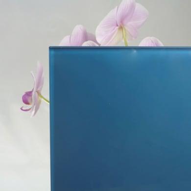 Vetro extrachiaro acidato verniciato blu Sp 4 mm
