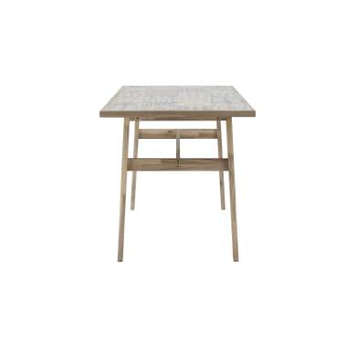 Tavolo da giardino rettangolare con piano in ceramica L 139 x P 137 cm