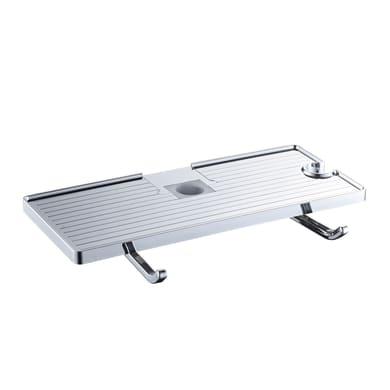 Supporto metallico Mensola per aste doccia con ganci in abs