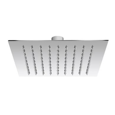 Soffione doccia Freesby quadrato ultraslim in acciaio inossidabile argento cromato