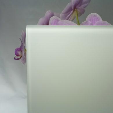 Vetro extrachiaro acidato verniciato bianco Sp 4 mm