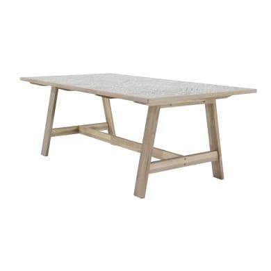 Tavolo da giardino rettangolare con piano in ceramica L 100 x P 200 cm