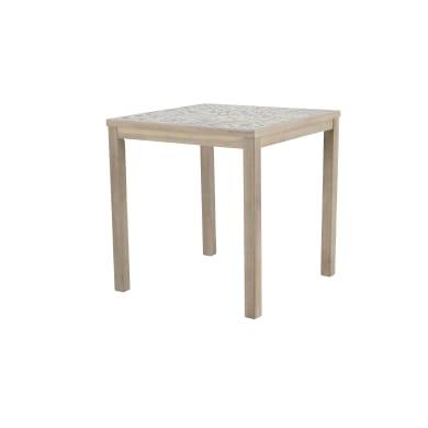 Tavolo da giardino quadrato con piano in ceramica L 70 x P 70 cm