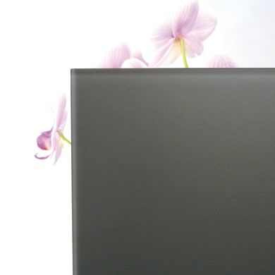 Vetro extrachiaro acidato verniciato grigio scuro Sp 6 mm