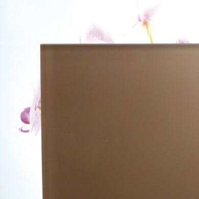 Vetro extrachiaro acidato verniciato marrone Sp 6 mm