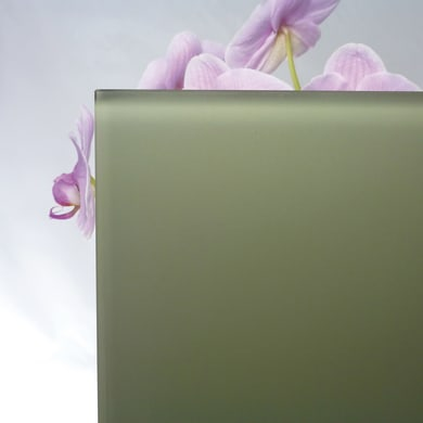 Vetro extrachiaro acidato verniciato verde Sp 6 mm