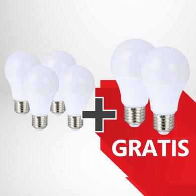 Set di 6  lampadine LED, Kit 4+2 lampadine LED E27 3000K, E27, Goccia, Bianco, Luce calda, 12W=980LM (equiv 12 W), 270°