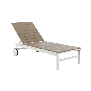 Sedia a sdraio NATERIAL San Diego in alluminio bianco
