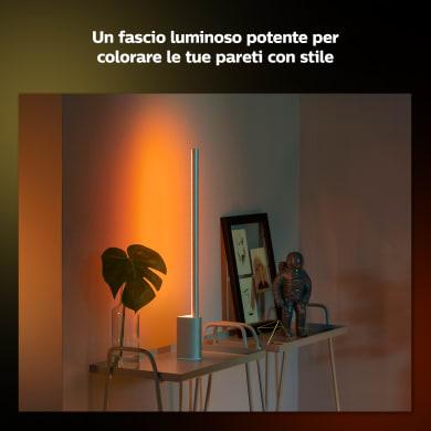 Lampada da tavolo Moderno Signe White and Color Ambiance bianco , in alluminio, PHILIPS HUE