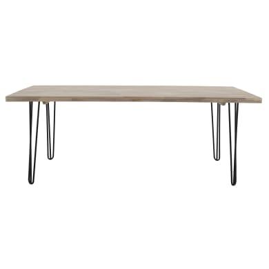 Tavolo da giardino rettangolare con piano in legno L 200 x P 100 cm