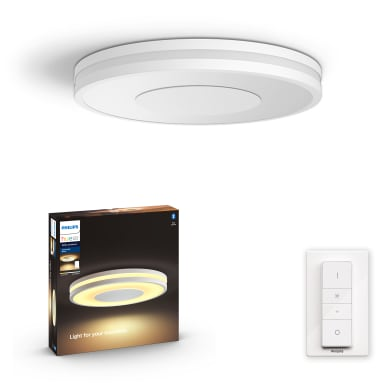 Plafoniera Being LED integrato bianco, in metallo,  D. 34.8 cm 34.8x34.8 cm, PHILIPS HUE