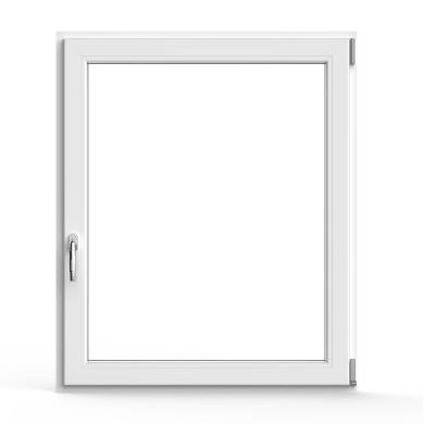 Finestra in pvc bianco L 100 x H 120 cm, 1 anta oscillo-battente apertura destra