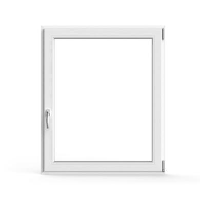 Finestra Artens oscillo-battente a tiro apertura a destra in pvc bianco L 100 X H 120 cm