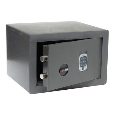 Cassaforte con codice elettronico CISA DGT Vision da mobile con fissaggio L 36 x P 30 x H 24 cm
