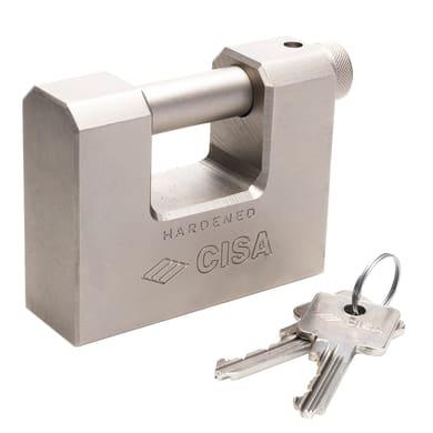 Lucchetto con chiave CISA Corazzato ansa H 17.5 x L 36 x Ø 12 mm