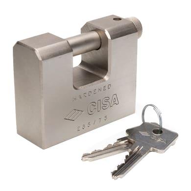 Lucchetto con chiave CISA Corazzato ansa H 13.5 x L 27 x Ø 12 mm