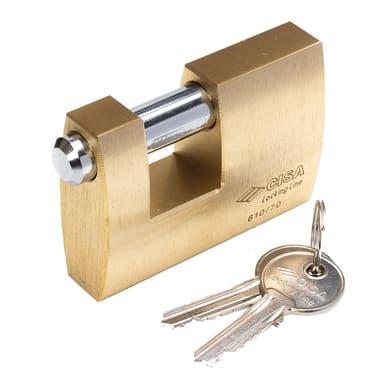Lucchetto con chiave CISA Locking Line in ottone x L 22 x Ø 12 mm