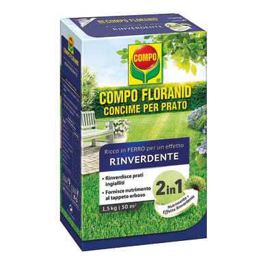 Concime per il prato granulare COMPO Floranid con ferro 3 Kg