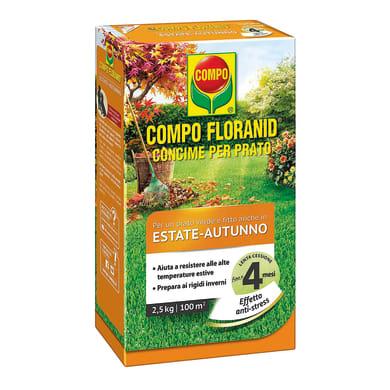Concime per il prato granulare COMPO Floranid per il periodo estivo-autunnale 2,5 Kg