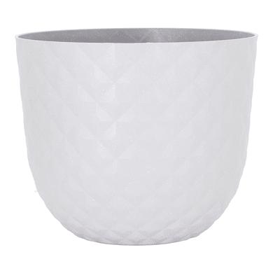 Vaso ARTEVASI in polipropilene colore bianco H 16.6 cm, P 20 cm Ø 20 cm