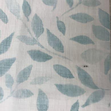 Tessuto al taglio Foglie azzurro 90 cm