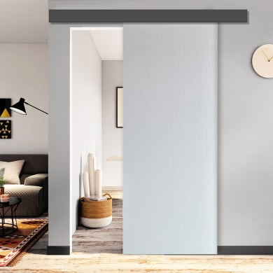 Porta scorrevole con binario esterno Renoir in mdf Kit Atelier L 212 x H 5 cm