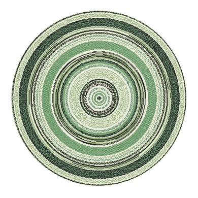 Tappeto per esterno Star in 100% polipropilene, verde, D 120