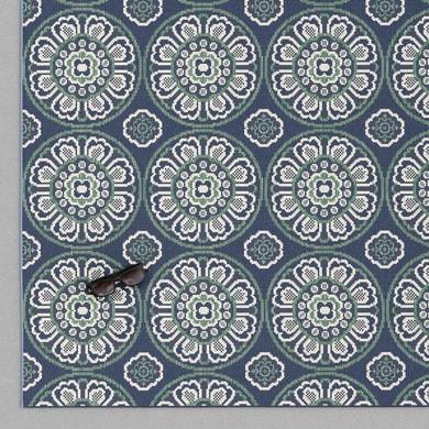 Tappeto per esterno Star in 100% polipropilene, blu, 120x170