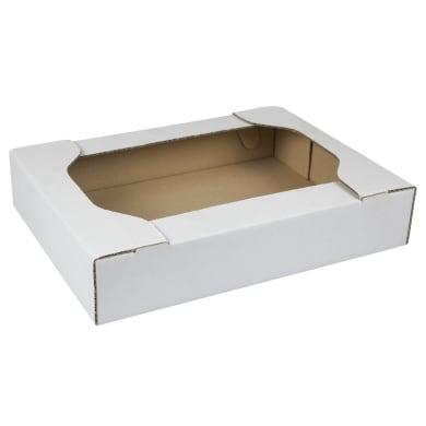 Set di 100 pezzi, Scatola da imballaggio per pasticceria 1 onda H 12 x L 39 x P 29 cm