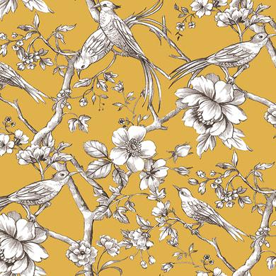 Tessuto al taglio Fauvette giallo 140 cm