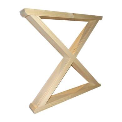 Piedi fissi legno legno naturale levigato  L 105 mm x P 790 mm  H 74 cm