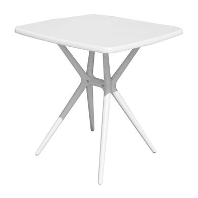 Tavolo da giardino quadrato con piano in polipropilene L 70 x P 70 cm