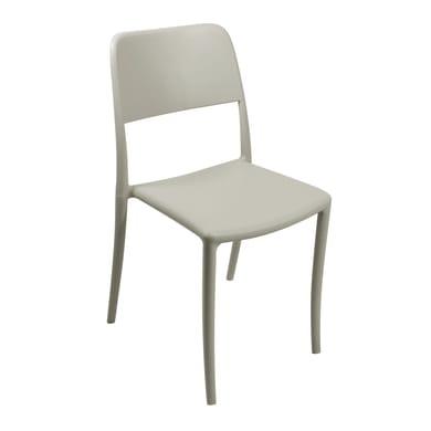 Sedia in polipropilene colore bianco