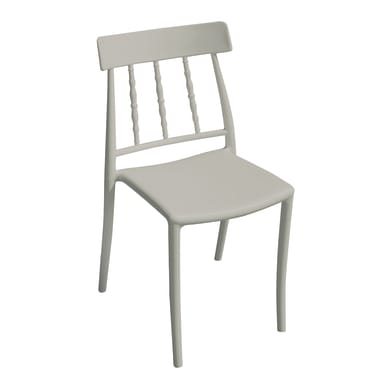 Sedia in polipropilene colore antracitte