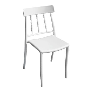 Sedia da giardino senza cuscino in polipropilene colore bianco