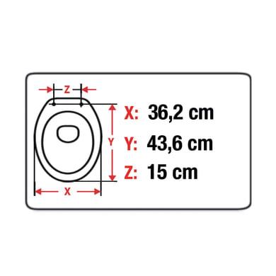 Copriwater ovale Originale per serie sanitari Roncal SENSEA plastica termoflessibile bianco