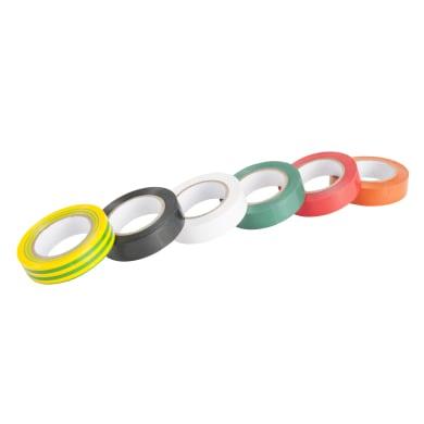 Nastro isolante set 6 pezzi colori assortiti 15 x 10000 mm x sp 0.15 mm multicolore