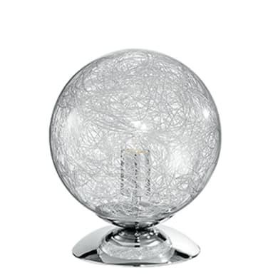 Lampada da tavolo Moderno Venere cromato lucido , in vetro