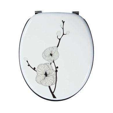 Copriwater ovale Universale Fiore Giapponese mdf decoro fantasia