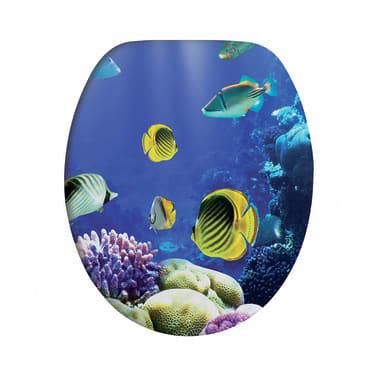Copriwater ovale Universale Sea Life mdf decoro fantasia