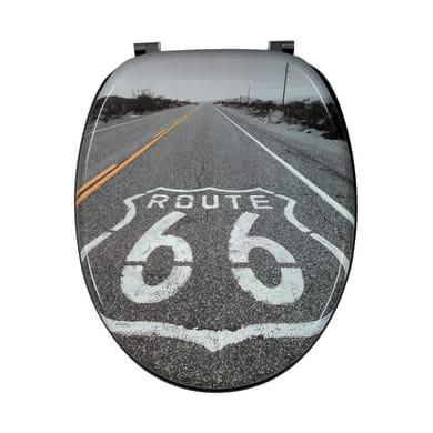 Copriwater ovale Universale Road66 mdf decoro fantasia