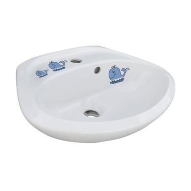 Lavabo Balena L 21 x P 35.5 cm in ceramica bianco
