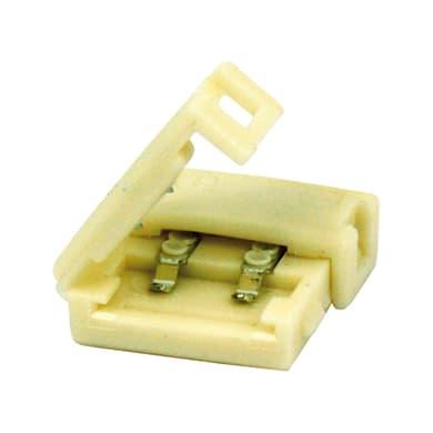 Connettore per 2 strisce led, giallo / dorato,