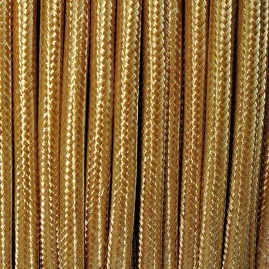 Cavo tessile MERLOTTI 2 fili x 0,75 mm² oro 3 metri