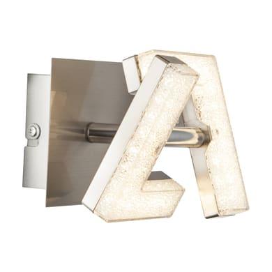 Faretto singolo Emma acciaio, nickel, in metallo, LED integrato 4W 280LM IP20