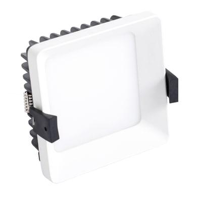 Faretto fisso da incasso quadrato Hato  in Alluminio bianco, 10x10cm LED integrato 10W 828LM IP20