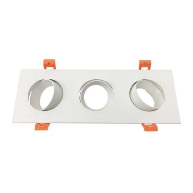 Set da 3 pezziGhiera per faretto da incasso orientabile rettangolo ghiera per faretto ad incasso bianco, 25xGU10 3xMAXLampadina non inclusaW IP20