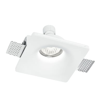 Faretto fisso da incasso quadrato Senso-1  in Gesso bianco, 12xGU10 MAX42W IP20