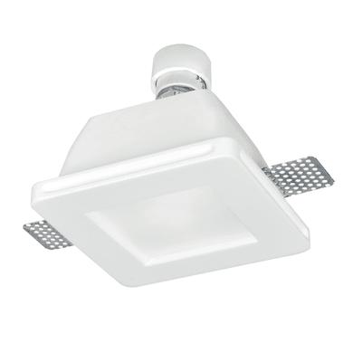 Faretto fisso da incasso quadrato Snow-q  in Gesso bianco, 12xGU10 MAX42W IP20
