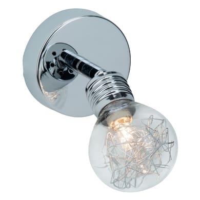Faretto a muro Bulb cromo, in alluminio, G9 33W IP20 BRILLIANT